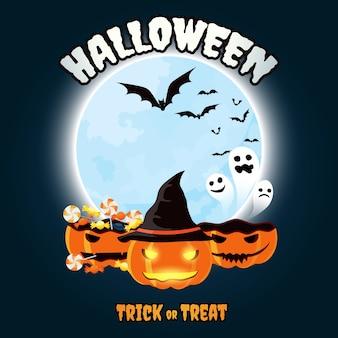 Halloween süßes sonst gibt's saures kürbis jack o lantern vektor