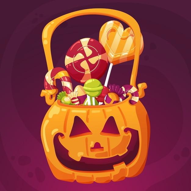 Halloween-süßigkeit stellt illustration für kinder ein