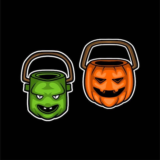 Halloween süßigkeiten eimer