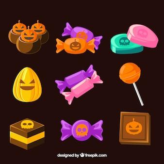 Halloween süßigkeiten sammlung