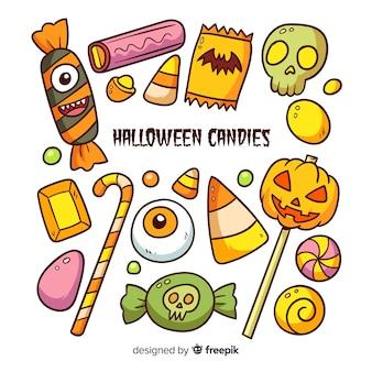 Halloween-süßigkeiten-sammlung