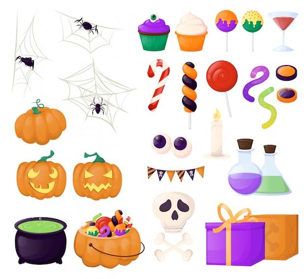 Halloween süßigkeiten und süßigkeiten