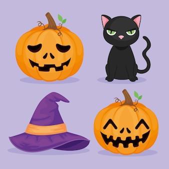 Halloween-symbolgruppe