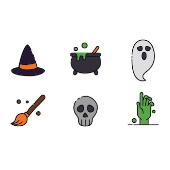 Halloween-symbolpaket