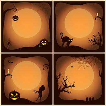 Halloween szenen sammlung