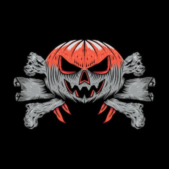 Halloween t-shirt design illustration