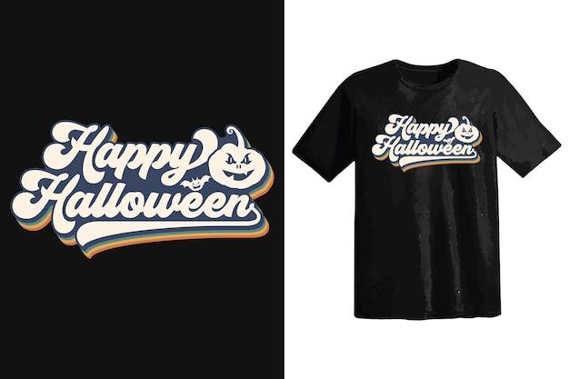 Halloween-t-shirt-design, vintage-typografie und schriftzug, retro-slogan