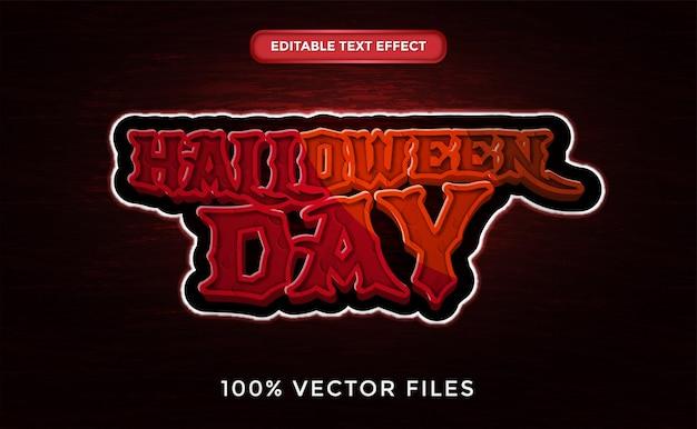 Halloween-tag texteffekt premium-vektor