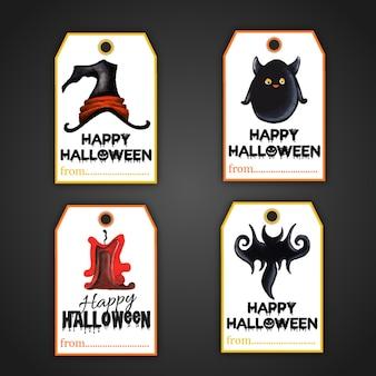 Halloween tags sammlung