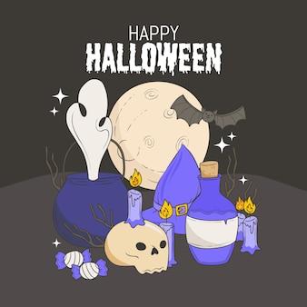 Halloween tapetenentwurf