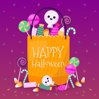 Halloween tasche thema