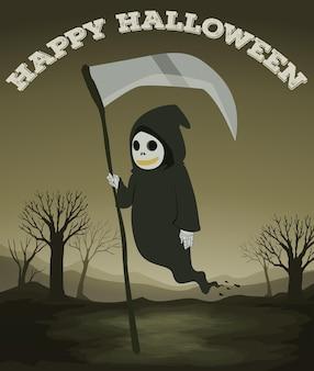 Halloween-thema mit geist