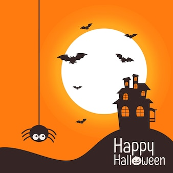 Halloween-thema mit schloss