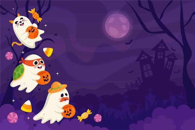 Halloween-themenhintergrund für zoom