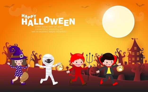 Halloween themenorientierte parteihintergrund