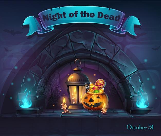 Halloween themenorientierter hintergrund