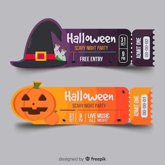 Halloween ticketvorlage