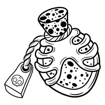 Halloween-trankskizze zum ausmalen