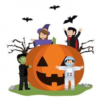 Halloween und kinder