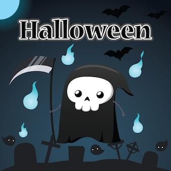 Halloween- und reaperillustration