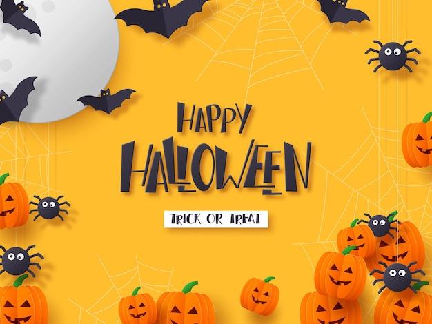 Halloween-urlaubsplakat. Premium Vektoren