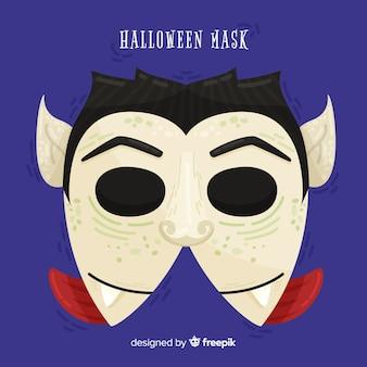 Halloween vampir maske im flachen design