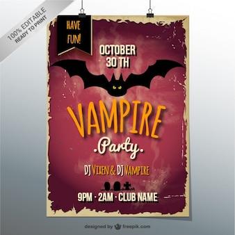 Halloween-vampir-party-plakat