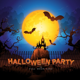 Halloween-vektorillustration. halloween-party