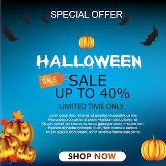 Halloween-verkauf banner hintergrund vektor