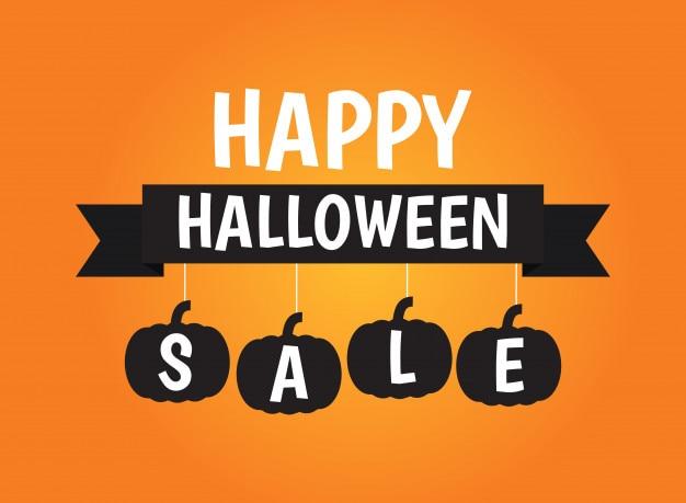 Halloween-verkauf banner hintergrund