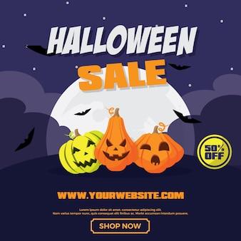 Halloween-verkauf-banner-vorlage