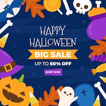 Halloween-verkauf