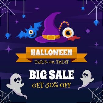 Halloween-verkaufsbanner