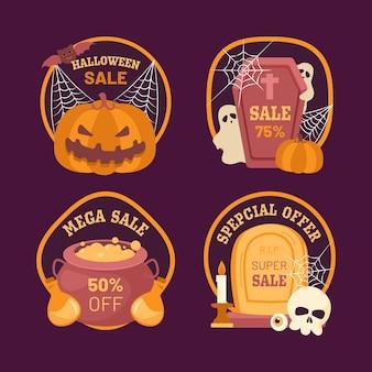 Halloween-verkaufsetikett