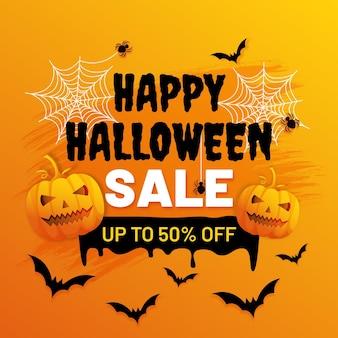 Halloween-verkaufsillustration mit farbverlauf