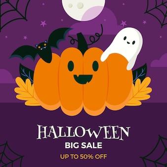 Halloween-verkaufskonzept