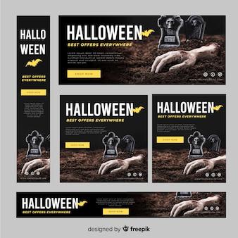 Halloween-verkaufssatz