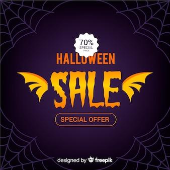 Halloween-verkaufszusammensetzung mit flachem design