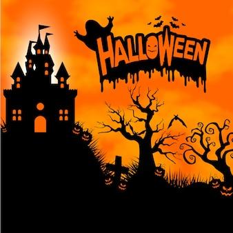 Halloween vertikalen hintergrund