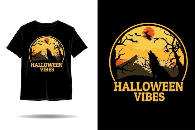 Halloween-vibes-silhouette-t-shirt-design