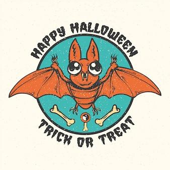 Halloween vintage abzeichen, embleme und etiketten.