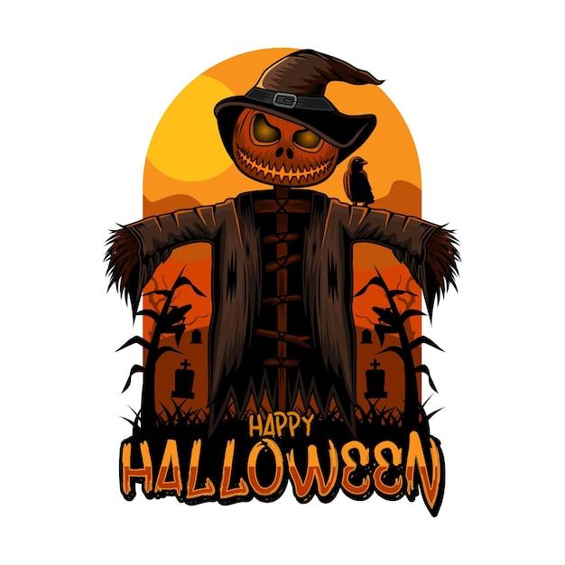 Halloween vogelscheuche happy halloween