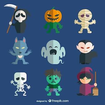 Halloween-zeichen-pack