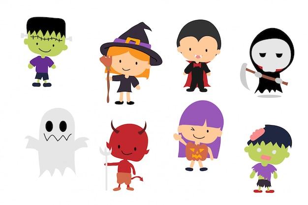 Halloween-zeichensatz