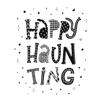 Halloween zitat happy haunting