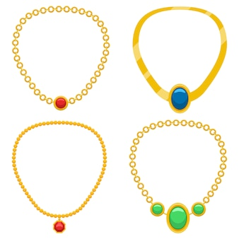 Halskette designillustration lokalisiert auf weißem hintergrund
