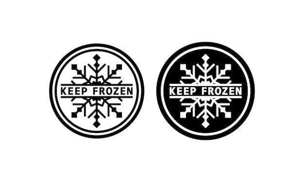 Halten sie eingefrorenes schild in schwarz. warnung. kältemittel. vektor auf weißem hintergrund isoliert. eps 10.