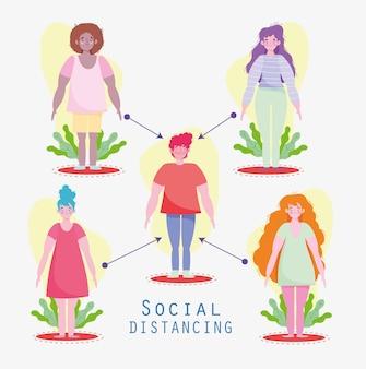 Halten sie soziale distanz