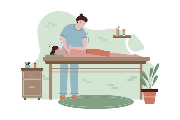 Halth, pflege, medizin, massage, osteopathie-konzept