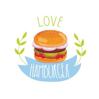 Hamburger auf weißem hintergrund